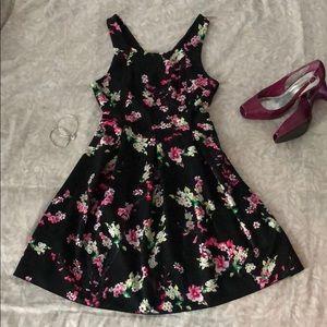 Express floral cross back mini dress